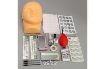 Mannequin Training Head Make Up False Eyelashes Extension Glue Practice Tools