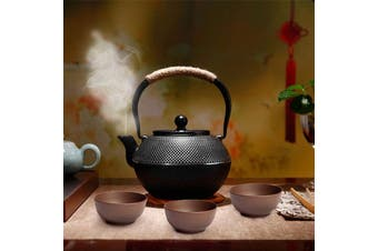 1.2L Japanese Tetsubin Style Cast Iron Tea Pot Kettle Tetsubin Teapot + Strainer