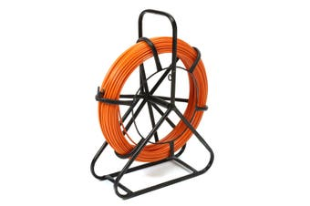 4.5mm 100M Fish Tape Fiberglass Wire Cable Running Rod Duct Rodder Puller