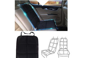 Waterproof Black Car Seat Protector Cover Organizer For Kids Safety Kick Mat