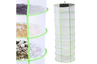 "Dry Rack 2"" Foot Diameter 8 Layer Collapsible Dryer Net Flowers Buds Herb US"