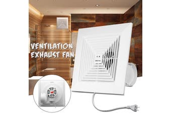 Free Shipping + Flash Deal 38W 8 inch Kitchen Bathroom Window Ceiling Wall Mount Ventilation Exhaust Fan