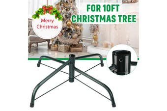 10FT Christmas Tree Stand Cast Iron Metal Holder Base Home Garden Decorations