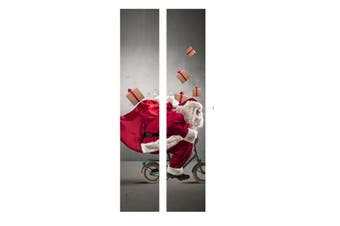 3D Christmas Santa Self Adhesive Door Wall Sticker Home Office Mural Xmas Decor