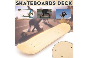 1/5 PCS 8'' Blank Skateboard Double Concave Skateboards Natural Wood Deck UK