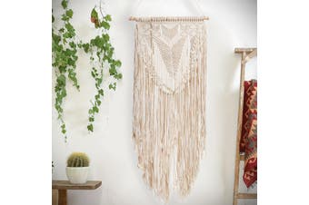 Free Shipping + Flash Deal Handmade BOHO Style Macrame Woven Wall Hanging Tapestry Home Decor Decoration NEW