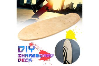 "[Not Included The Wheels] DIY 24"" inch 7 Layers Natural Wooden Maple Skateboards Natural Skate Deck Board Skateboards Deck Wood Maple Parts Accessory"