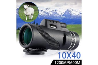 【Free Shipping】40X60 Waterproof/Fogproof Day&Night Vision Dual Focus HD Optics Zoom Monocular Telescope 500M/ 9500M Field of View 16mm Eye Lens Diameter(coolblack,OPTICS BAK4)