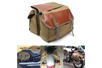 Canvas Motorcycle Saddle Bags Equine Back Pack for Haley Sportster