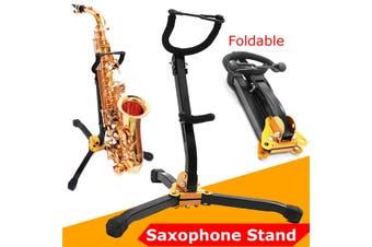 Detachable Instrument Black Saxophone Stand Sax Tenor Alto Folding Tripod Holder
