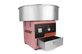 220V 1000W Electric Cotton Candy Machine Floss Maker Commercial Carnival Party Pink Switch