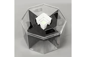 Mini Clear Acrylic Betta Aquarium Fish Tank Breeding Isolation Box w Water Pump