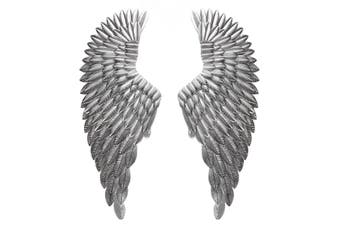 Large Antique Silver Angel Wings Decorative Chic Wall Mounted Hanging Art 104cm