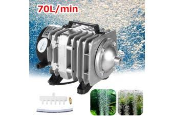 45W Electromagnetic Air Pump Oxygen Aquarium Fish Koi Pond Compressor Hydroponic