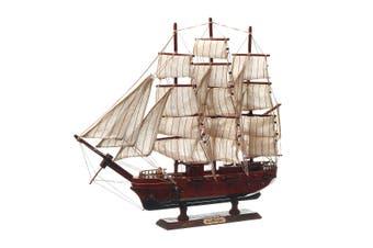 Wooden Sailboat Black Pearl Ship Home Model Decoration Boat Gift
