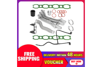 【Free Shipping + Flash Deal】10pcs Aluminum Coolant Pipe Upgrade Repair Kit For Porsche Cayenne 4.5 V8 2003-2006