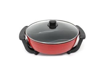 6L Non-Stick aluminium Home Electric Shabu Hot Pot Smokeless 220V 1800W