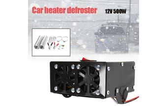 500W 12V Car Truck Fan Heater Defroster Demister Heating Warmer Windscreen Accs