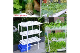 Hydroponic Grow Kit 108 Sites 12 Pipes 3 Layers Garden Plant Vegetable Tool