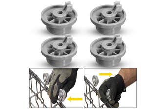 4 PCS 165314 Dishwasher Lower Rack Basket Wheel for Bosch Neff & Siemens