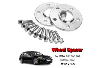 2x 12mm 5X120 PCD Hubcentric Wheel Spacer Bolts Kit For BMW E46 E60 E61 E90 ..