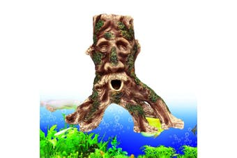 Resin Tree Root Aquarium Fish Tank Ornament Rockery Fish Hiding Cave New