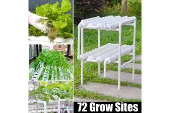 Hydroponic Site Grow Kit 72 Planting Sites Garden Plant System Vegetable Tool