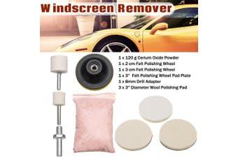 8Pcs 120g Cerium Oxide Glass Polishing Kit Windscreen Scratch Remover Repair Pad(8pcs)