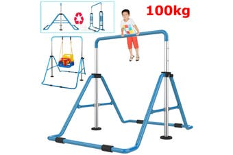 Adjustable Kids Gymnastic Bars Asymmetric Gym Bar Exercise Training Indoor Play(blue,Kids Gymnastic Bars)