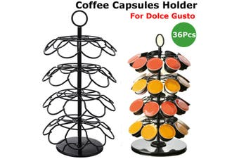 36Pc Coffee Capsules Holder Stand Dispenser Rack Capsule Storage For Dolce Gusto