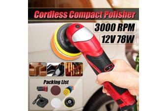 12V Shockproof Design Compact Polisher Machine Multifunction + 4Pcs Sponge Pad For Car Shoes Furniture Floor Waxing Polishing