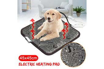45x45cm Electric Heating Heated Blanket Bed Dog Cat Bunny Pad Pet Warm Mat