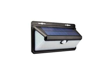 166 LED Solar Power Wall Light Outdoor PIR Motion Sensor Flame Garden Security Lamp IP65
