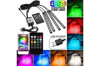 1Set USB Interior Strip Lamp 9 LED App Control Light Rmote Control floor lights car Decorative atmosphere lamp