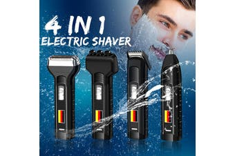 4 In 1 Rechargeable Electric Men Hair Face Nose Trimmer Beard Clipper