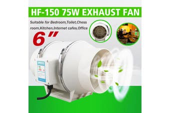 "6"" Hydroponic Inline Exhaust Industrial Vent Silent Fan Extractor Duct Kitchen"