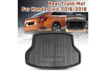 Car Auto Rear Boot Cargo Liner Trunk Floor Mat Carpets Tray Mats Pad Mat Carpet Fit For Honda for Civic 2016 2017 2018 Car style
