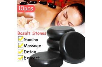 10PCS 6x6cm Hot Massage Stone Basalt Stones Kit Set Rock SPA Oiled Massager Tool