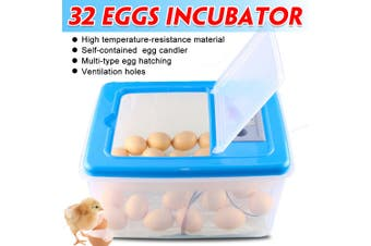 32 Eggs Electronic Digital Incubator Hatcher Automatic Incubation Emperature Control Chicken Poultry 12V/220V