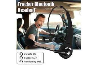 Trucker Driver Headset Bluetooth Wireless Earpiece Headphone Handsfree With Mic