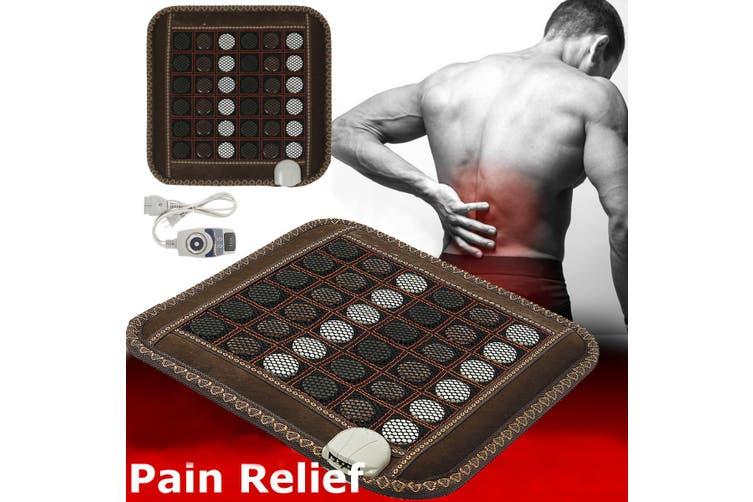220V Infrared Heating Mat Natural Jade Tourmaline Massage Pad for Pain Relief