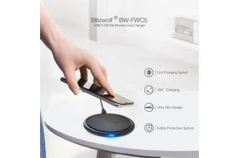BlitzWolf BW-FWC5 10W 7.5W 5W Fast Wireless Charger Charging Pad For iPhone XS MAX XR S9 Note 9