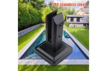 swimming pool spigot Ground glass clip stainless steel swimming pool staircase guard glass fixture beach column