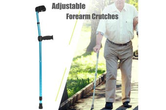 Adjustable Forearm Elbow Underarm Crutches Walking Stick Soft Lightweight