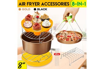 "8in1 Set 8"" Non-stick Air Fryer Accessories"