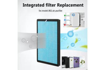 Augienb 5 stage HEPA Filtration System Replacement Filter for Model 802 Air Purifier - Filter Element