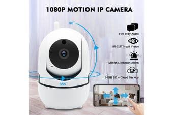 WIFI 1080P 200W ONVIF P2P Outdoor Wireless I R Cut Security IP Camera Night Vision Shaking Head Monitor (white,Type 10)