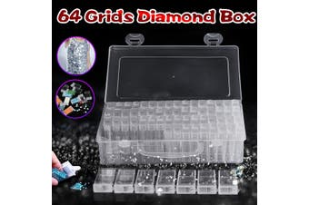 64 Grids Diamond Embroidery Painting Tool Plastic Jewelry Bead Drill Storage Box