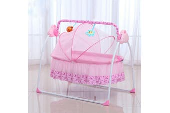 Electric Kids Baby Crib Cradle Infant Rocker Auto-Swing Sleep Bed Cots w/ Mat