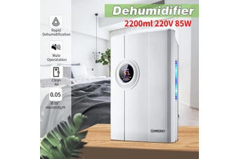 2200ml 85W 220V Portable Dehumidifier Mute Home Mini Air Dryer Bedroom Office Defroster